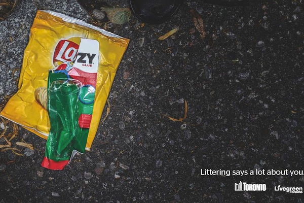 Anti Littering Campaign toronto lazy