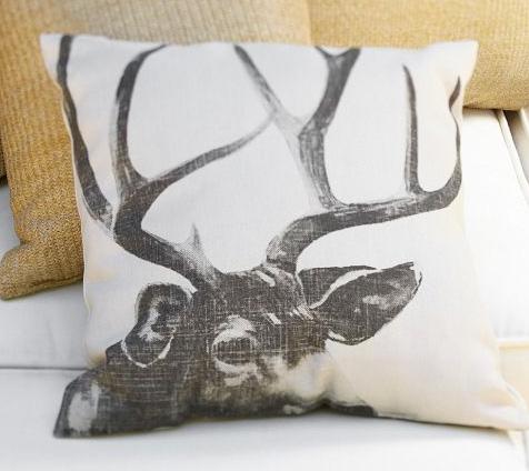 Antler outdoor pillow