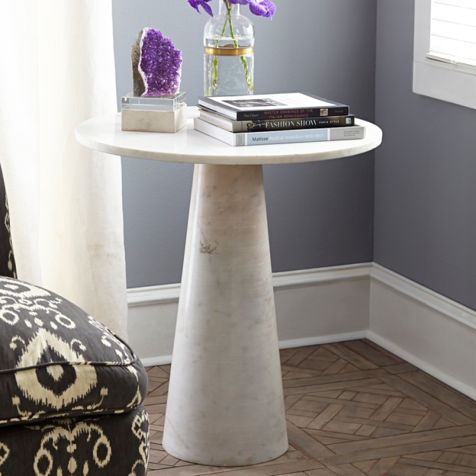 Wisteria Banswara marble side table