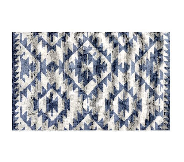 Look inside Hannah Simone's Americana-chic nursery: Pottery Barn heritage rug