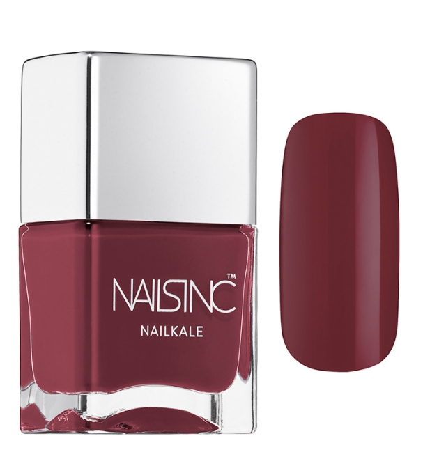 Coolest Nail Colors to Try This Fall: Nails Inc. Nailkale Nail Polish in Regents Mews | Fall Style Trend 2017