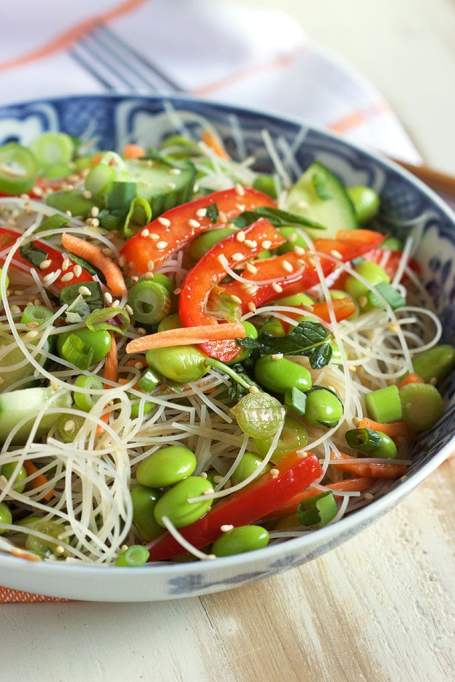 Rice noodle salad from The Suburban Soap Box