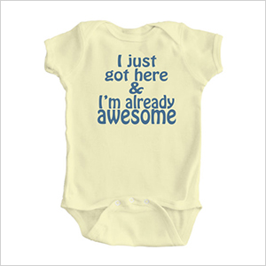 Apericots already awesome onesie | Sheknows.com