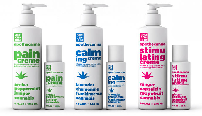 ew beauty products by Apothecanna made with cannabis oil.