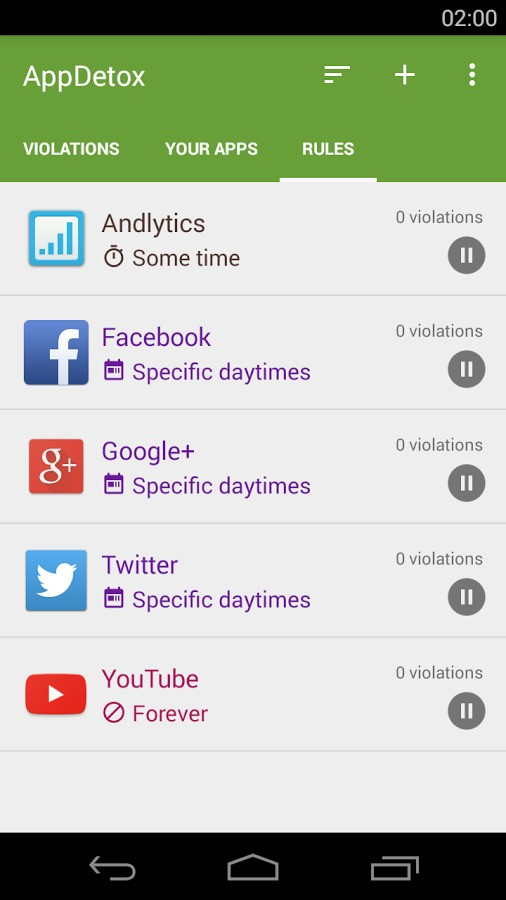 AppDetox screenshot