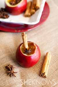 Apple and pear cider cups recipe