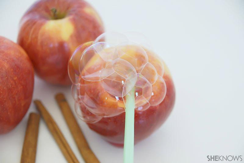 Apple Bubbles   Sheknows.com - blow bubbles in apple