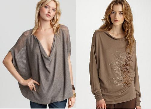Dolman-sleeve sweaters
