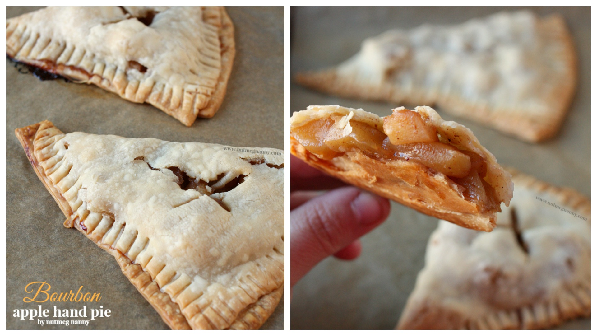 Bourbon apple pie recipe from Nutmeg Nanny