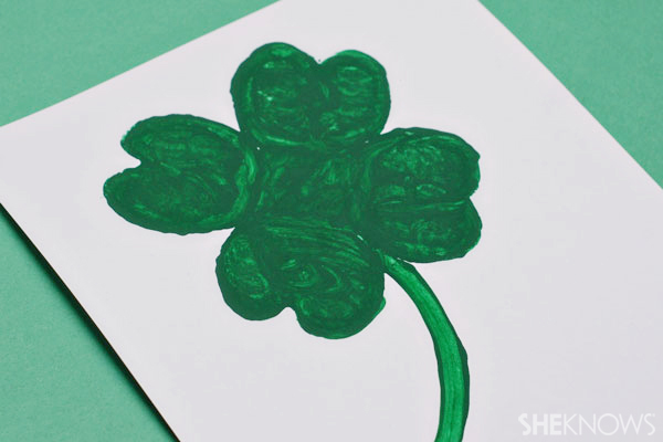 Stamped shamrock picture