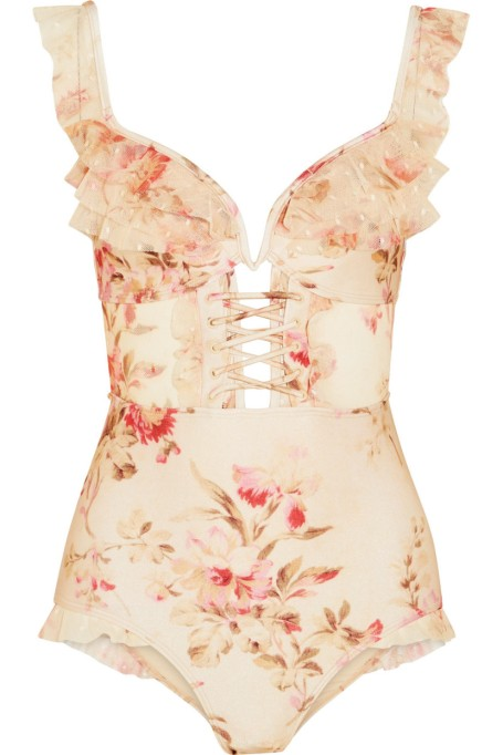 Zimmermann Ruffled Swimsuit