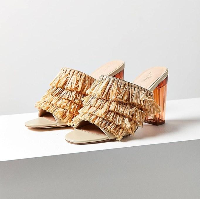 The Best Mule Shoe For Summer 2017: Raffia Lucite Heel | Summer 2017 Accessories