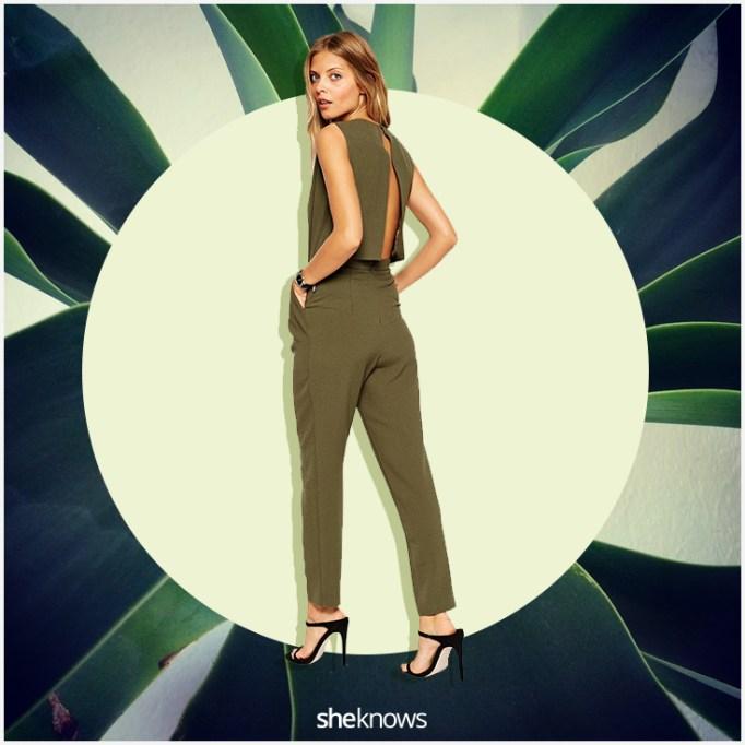 Green ASOS jumpsuit