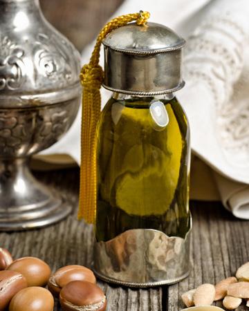 Argan oil in bottle