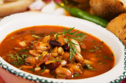 Slow Cooker Many Bean Soup