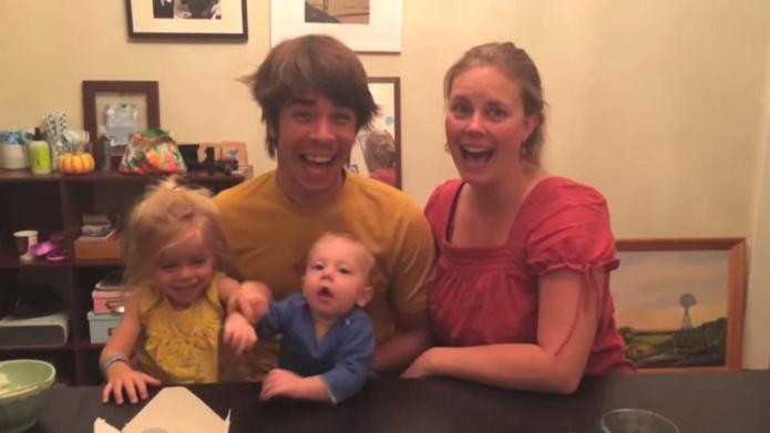 Couple announces pregnancy through adorable photo