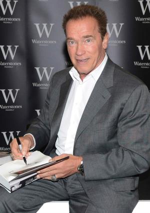 Arnold Schwarzenegger at Book Signing
