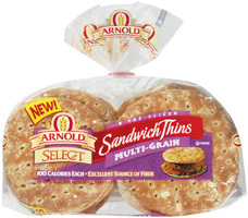 Arnold Select Whole Wheat Sandwich Thins