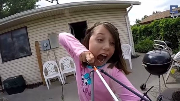 11-Year-old girl pulls her own tooth