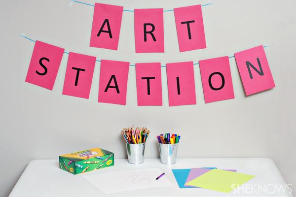 Art station - Birthday party games