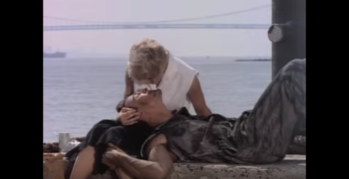 """Madonna in music video for """"Papa Don't Preach"""""""