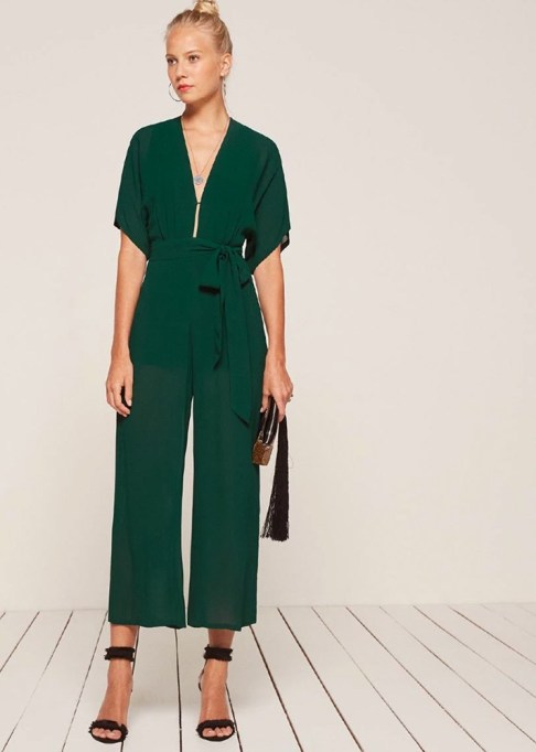 Best jumpsuits for the summer-to-fall transition: Reformation Swiss Jumpsuit | Fall Fashion 2017