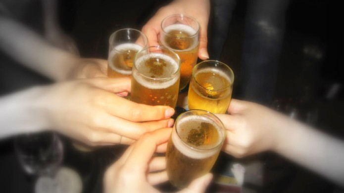 How to raise a toast around