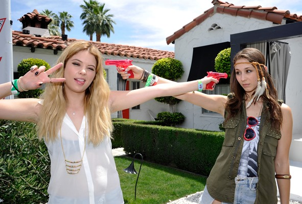 Ashley Benson at the Guess Hotel party in Coachella