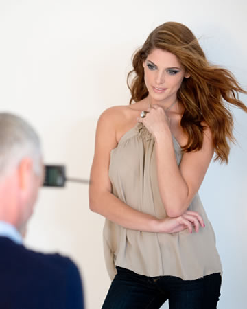 Exclusive behind the scenes of Ashley Greene's photoshoot with Mark cosmetics