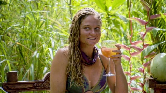 Ashley Nolan enjoys reward on Survivor: Heroes Vs. Healers Vs. Hustlers