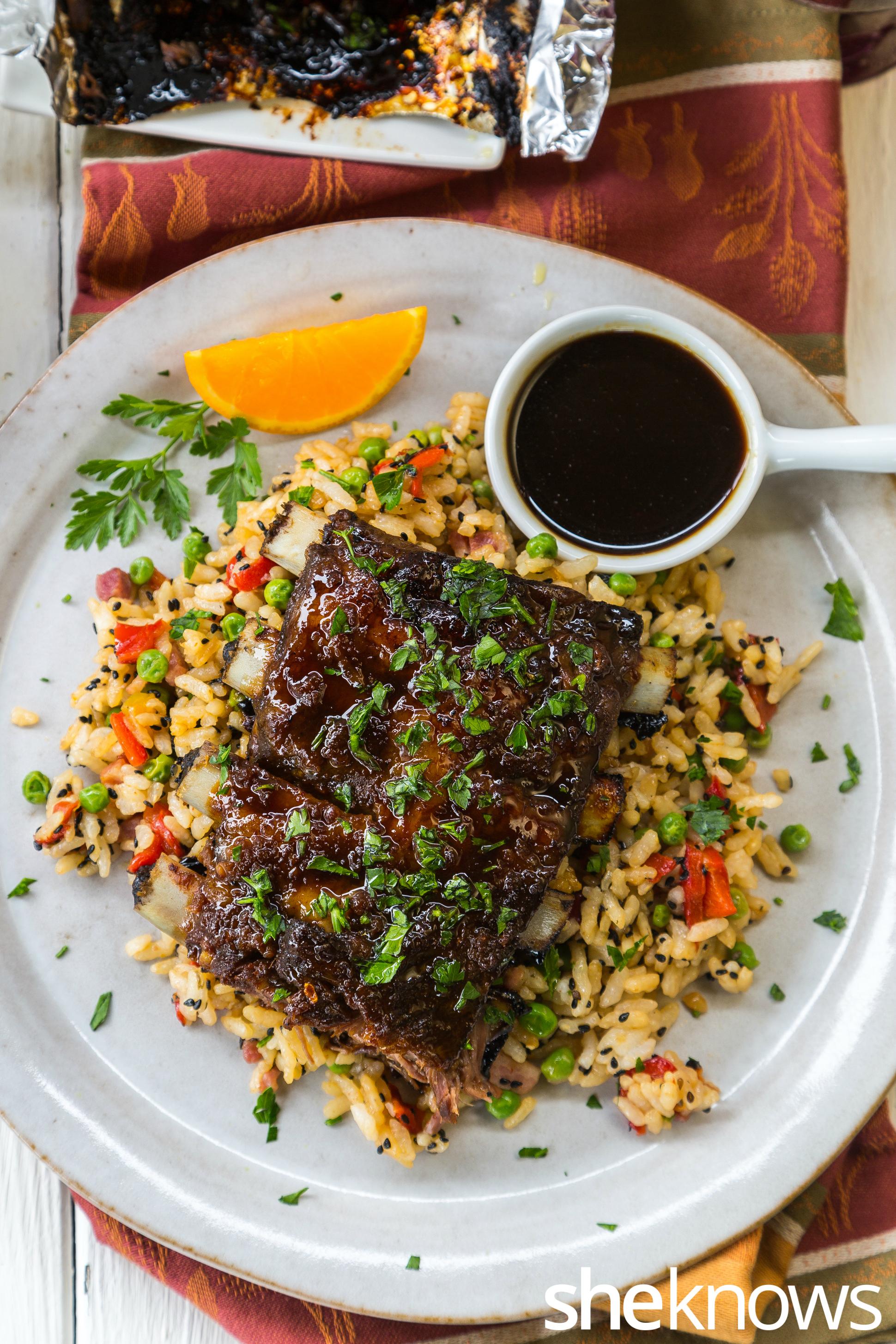 Oven-baked orange-soy pork ribs recipe