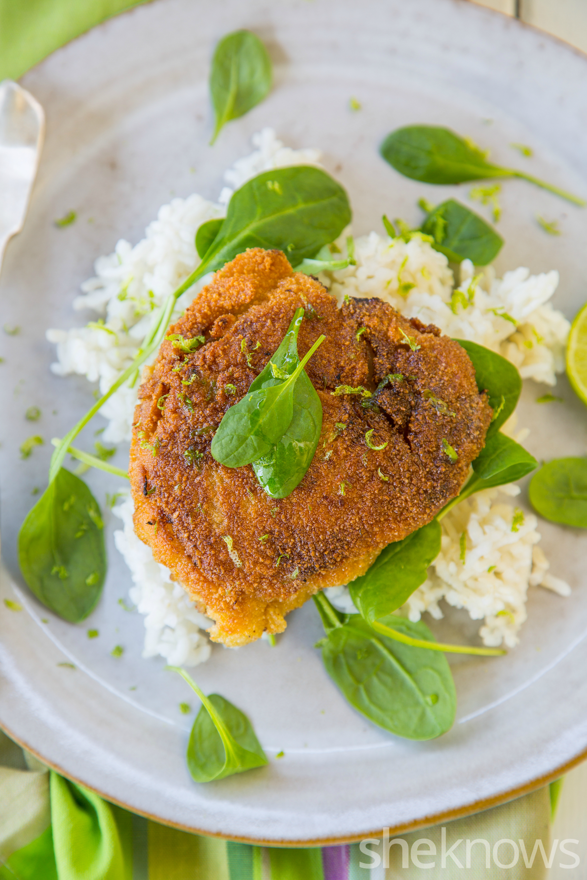 Ginger and lime breaded fried chicken recipe