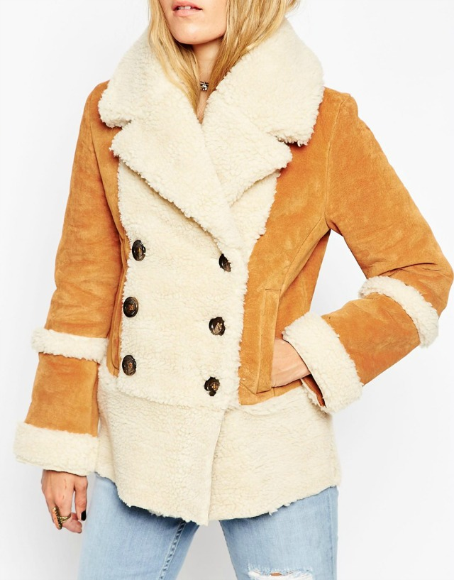 ASOS shearling coat