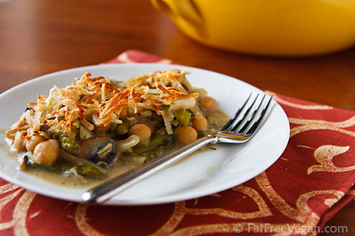 asparagus and chickpea casserole