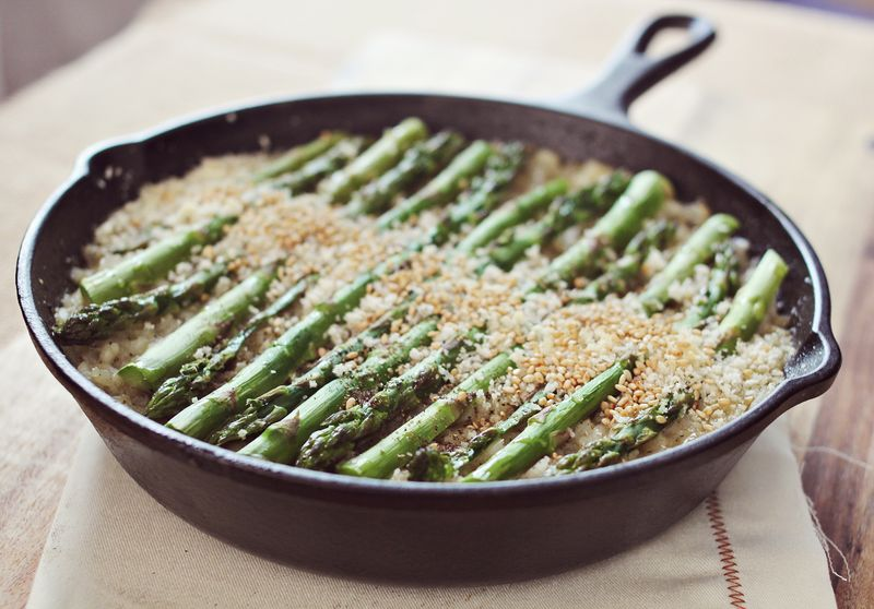 Asparagus Risotto from A Beautiful Mess