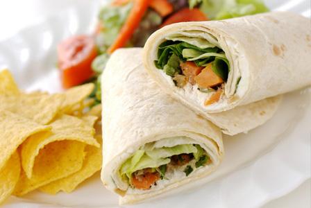 Assorted veggie and hummus rolls