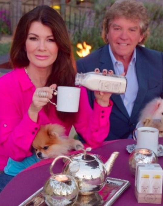 Ken Todd and Lisa Vanderpump having tea