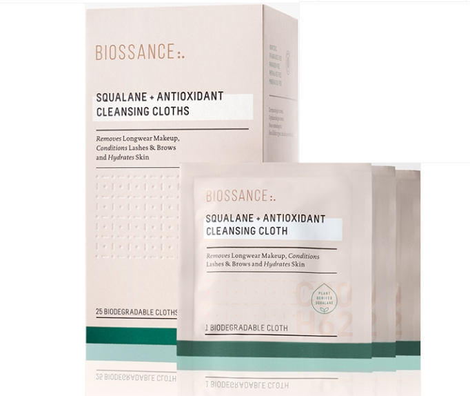 Best Sephora Products to Shop in September: Biossance Squalane + Antioxidant Cleansing Cloths | Fall Makeup