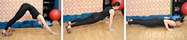 Downward dog to pushup 2 and 4