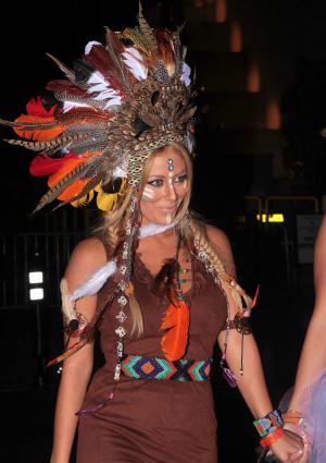 Aubrey O'Day as Pocahontas Halloween 2012