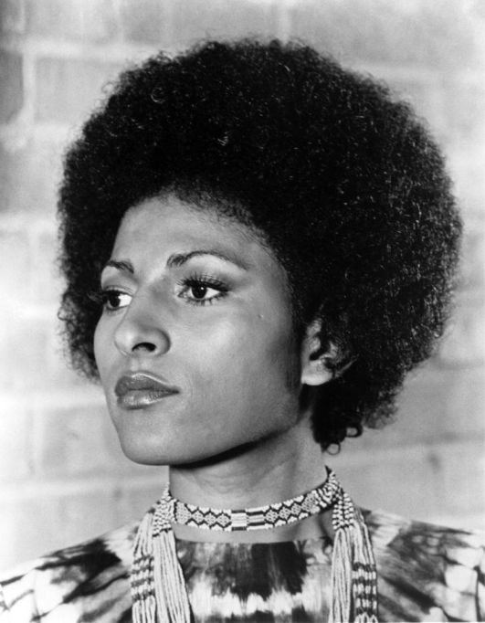 Pam Grier Afro