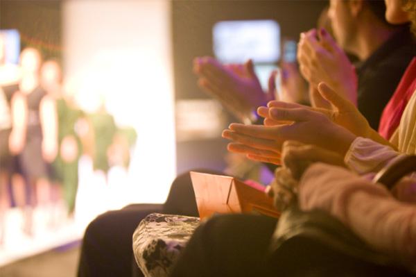 Audience at Fashion Week