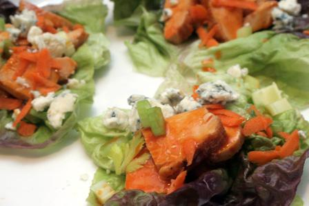 Buffalo chicken lettuce wraps and more