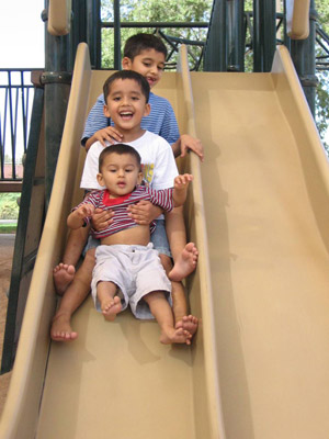 Hamza boys on the slide - Autism