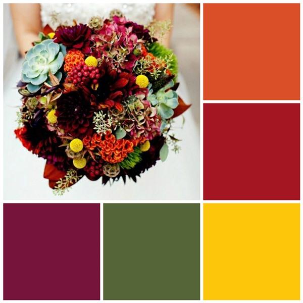 Autumn blooms color scheme