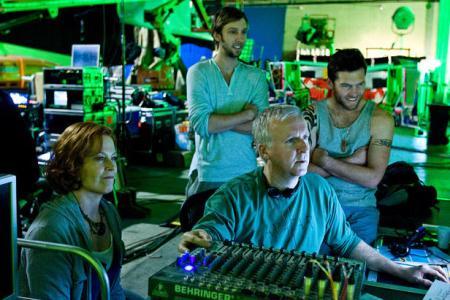 Jim Cameron at work on Avatar