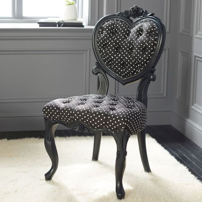 Anna Sui for PBteen: This heart-backed chair makes a big statement
