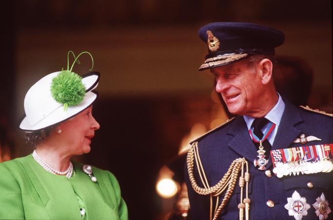 Queen Elizabeth II & Prince Philip in 1991
