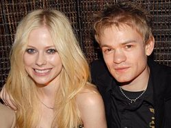 Avril and Deryck in happier days