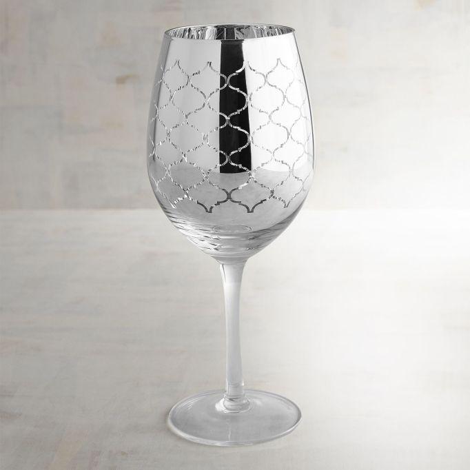 Cute, affordable wine glasses | metallic wine glass